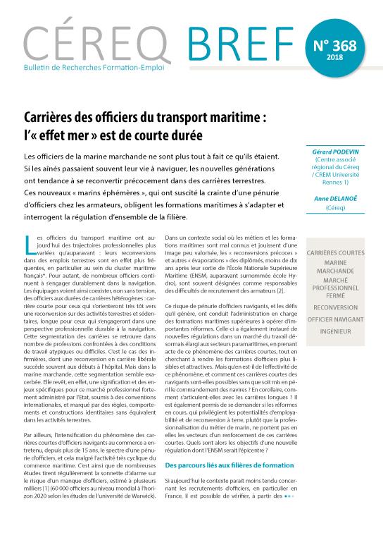 Carrieres Des Officiers Du Transport Maritime L Effet Mer