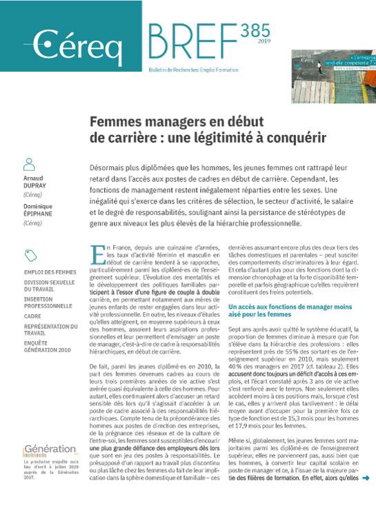 Vignette document Femmes managers en début de carrière : une légitimité à conquérir