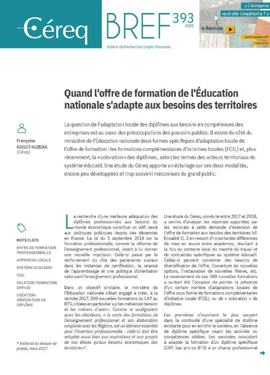 Vignette document Quand l'offre de formation de l'Éducation nationale s'adapte aux besoins des territoires
