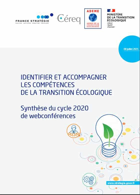 Vignette document Identifier et accompagner les compétences de la transition écologique. Synthèse du cycle 2020 de webconférences