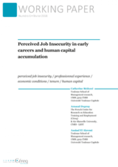 Publication cover Céreq Working paper 6 - Perceived Job Insecurity in early careers and human capital accumulation
