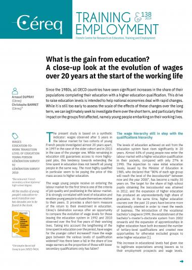 What is the gain from education ?